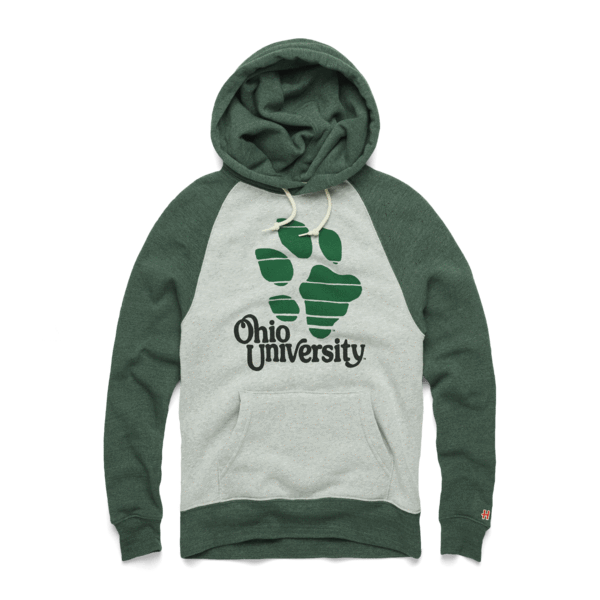 Ohio University Pawprint Stripe Hoodie