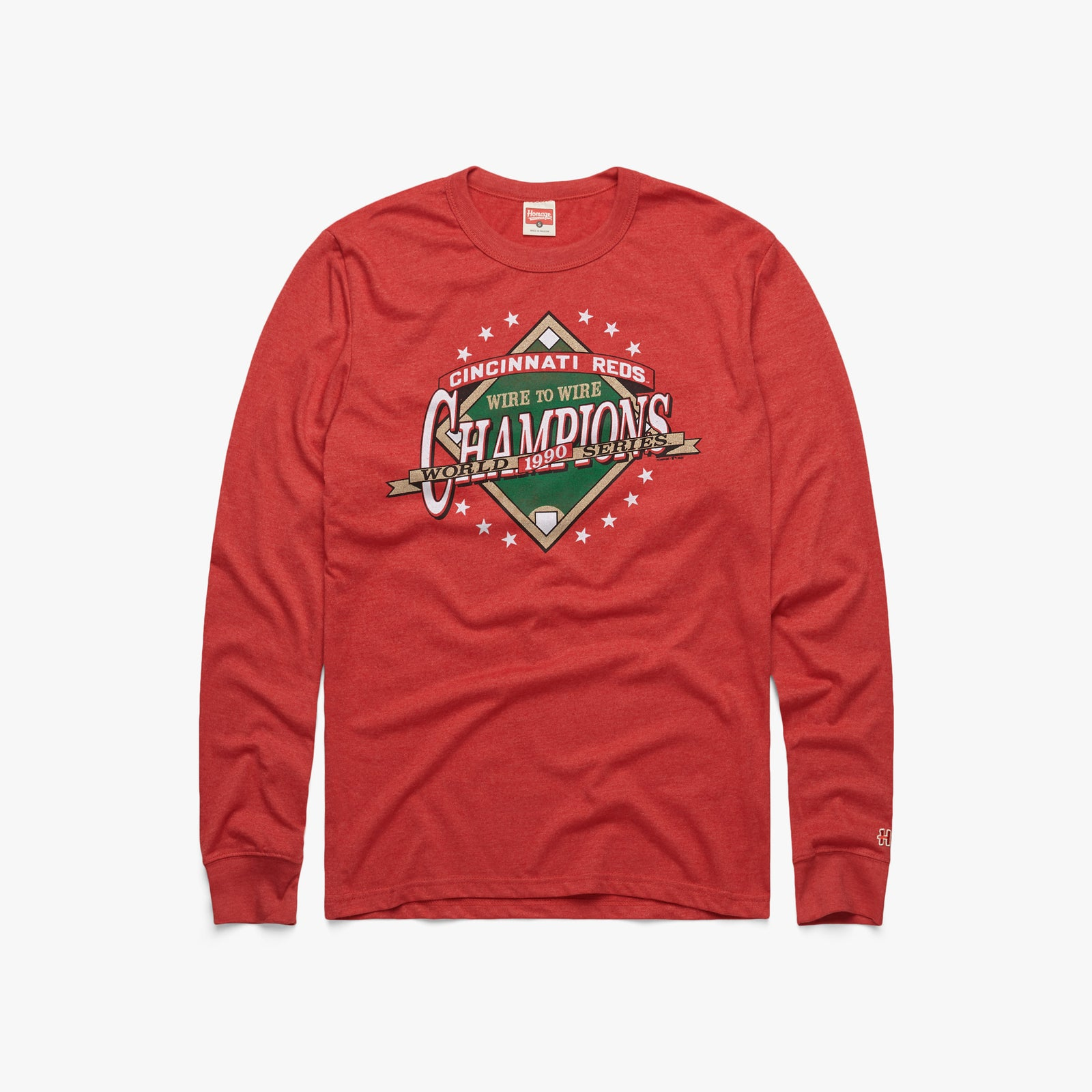 Reds 1990 World Series Champs Long Sleeve Tee