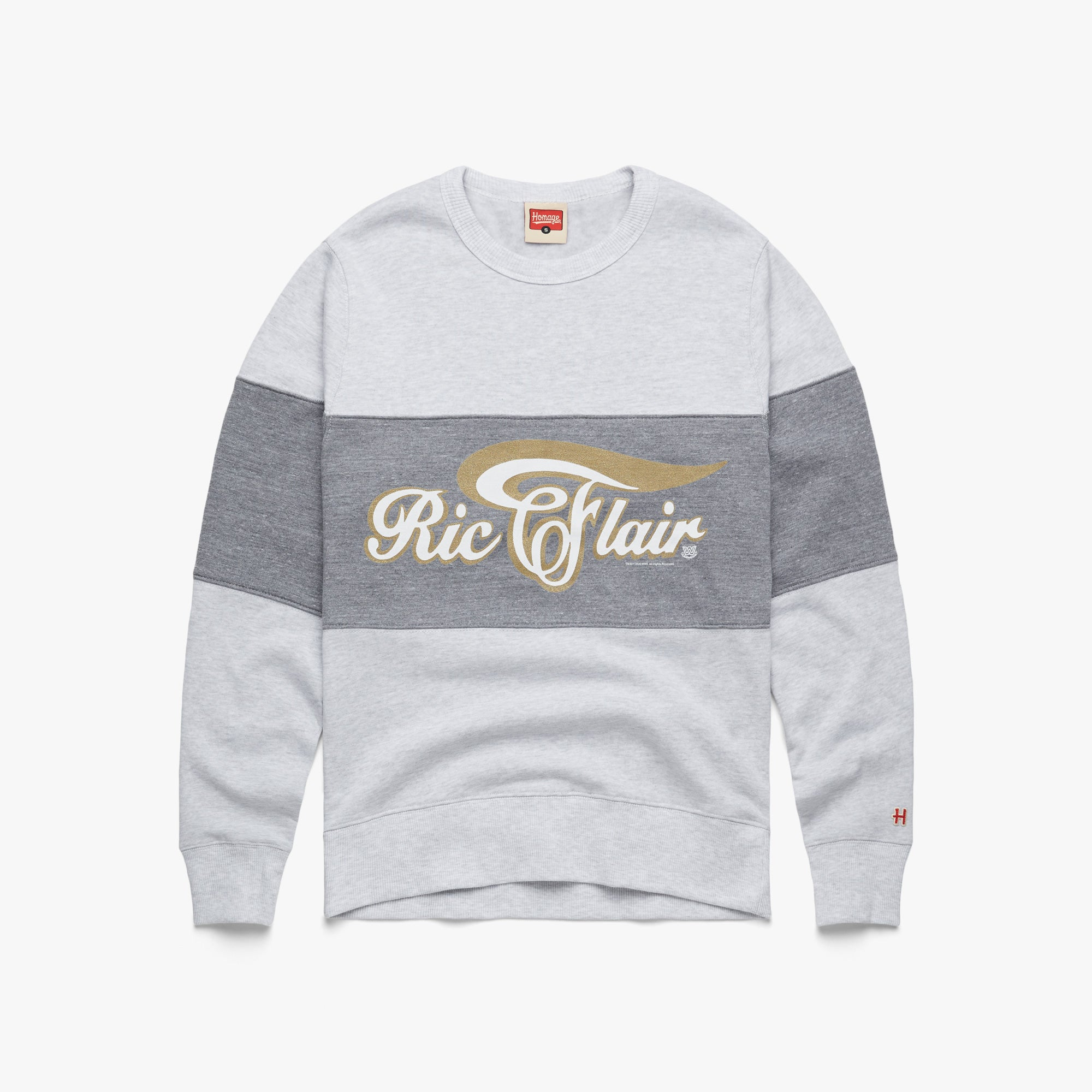 Ric Flair Script Stripe Crewneck