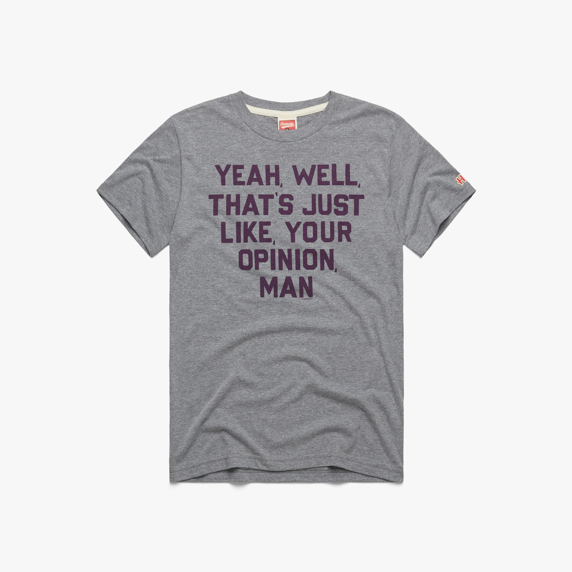 The Big Lebowski You Know That/'s Just Like Your Opinon Black T-shirt S-3XL