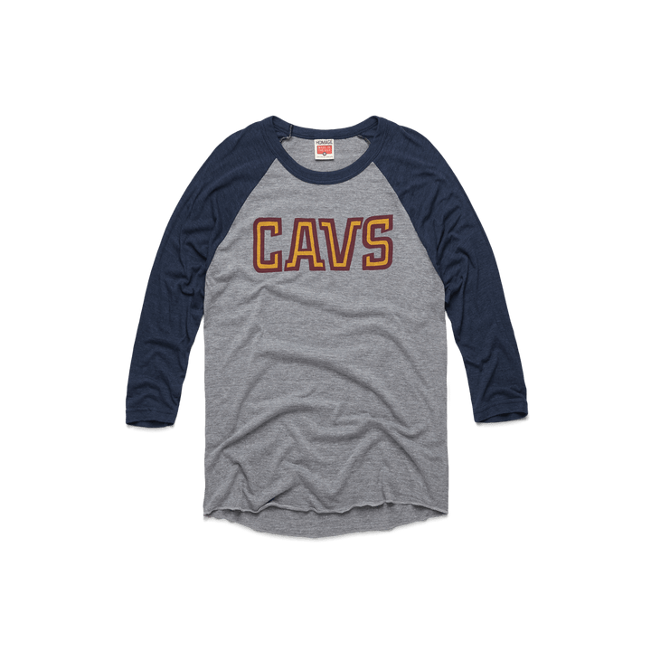 7c97d426e Wine And Gold Cavs Raglan Cleveland Cavaliers NBA Basketball T-Shirt –  HOMAGE