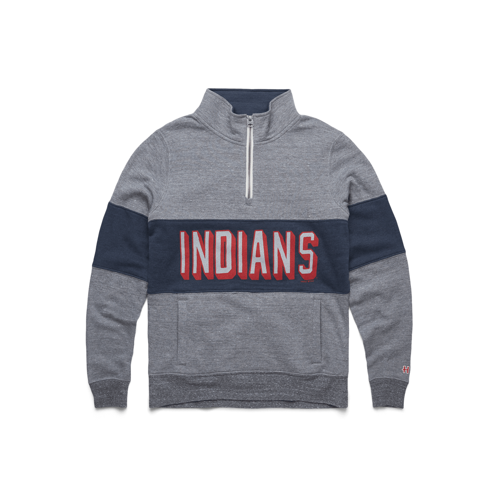 Women's Block Indians Quarter Zip