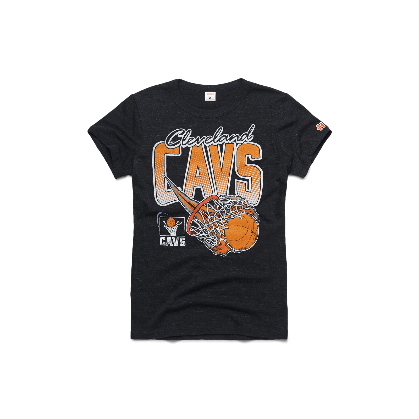 Women's Cavs On Fire Vintage Tee