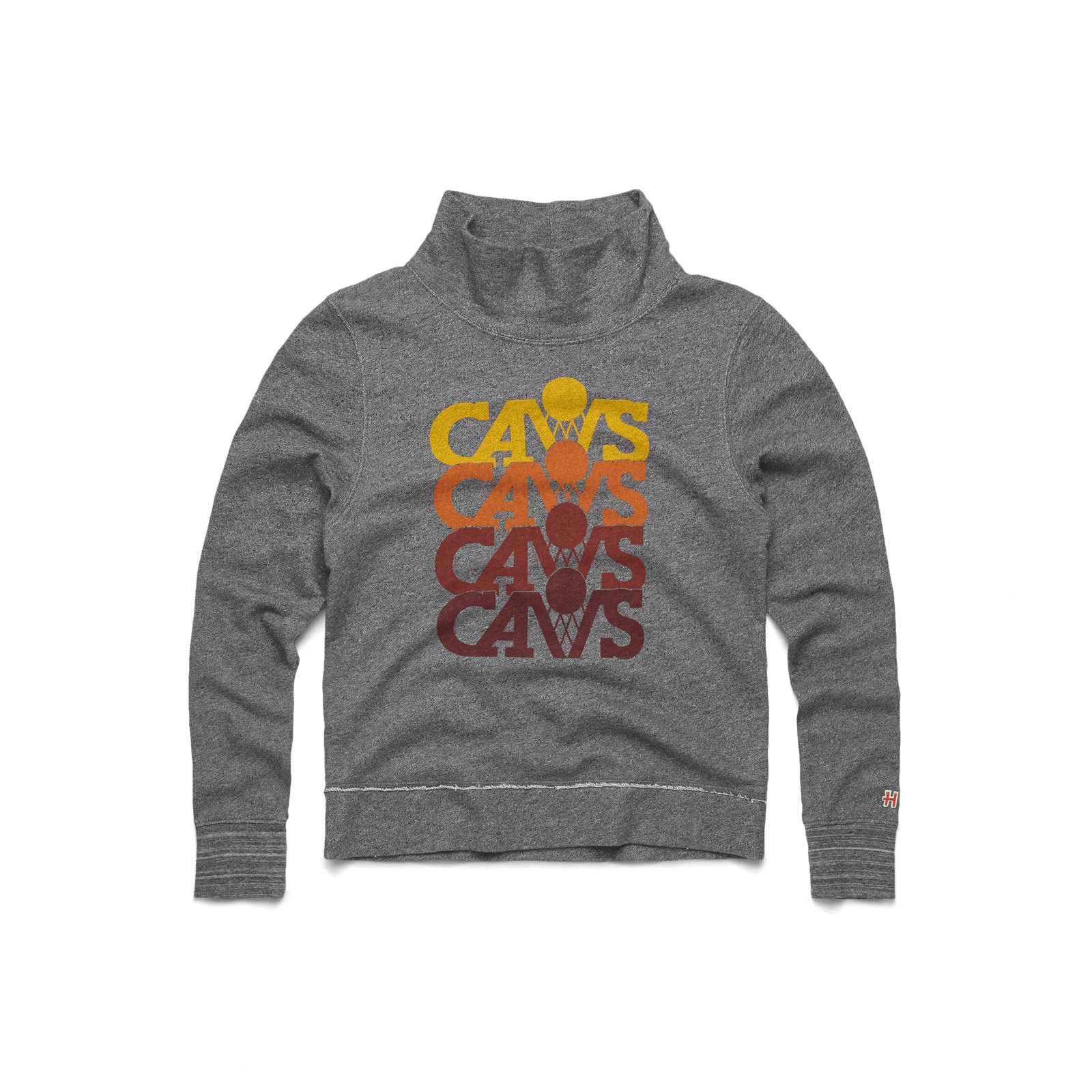 Women's Cavs Repeat Funnel Neck Sweatshirt