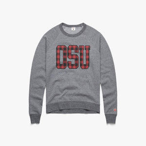 Women's OSU Plaid Crewneck