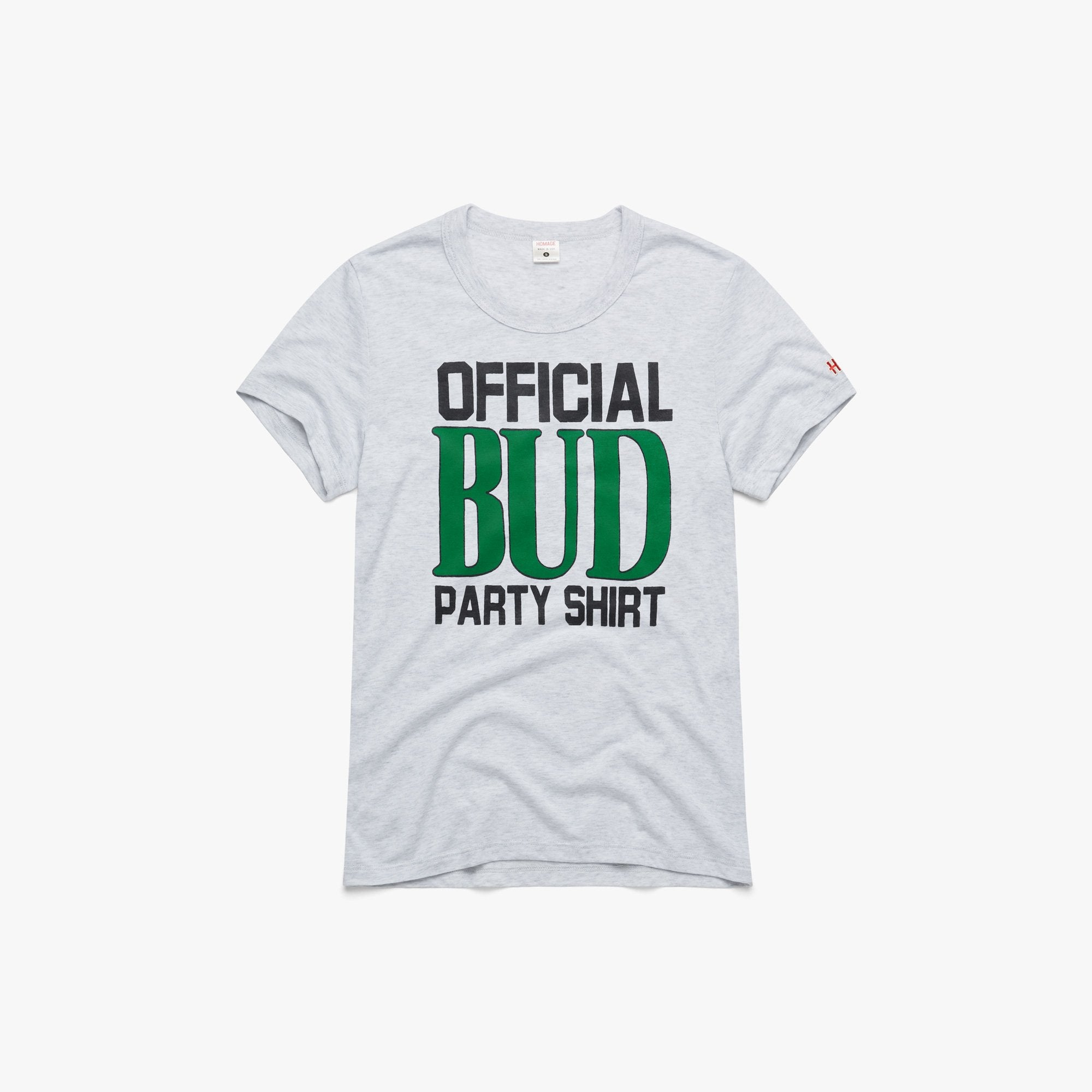 Women's Official Bud Party Shirt Vintage Tee