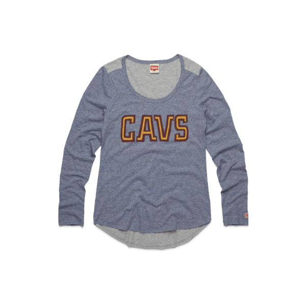 Women's Wine And Gold Cavs Long Sleeve Tee
