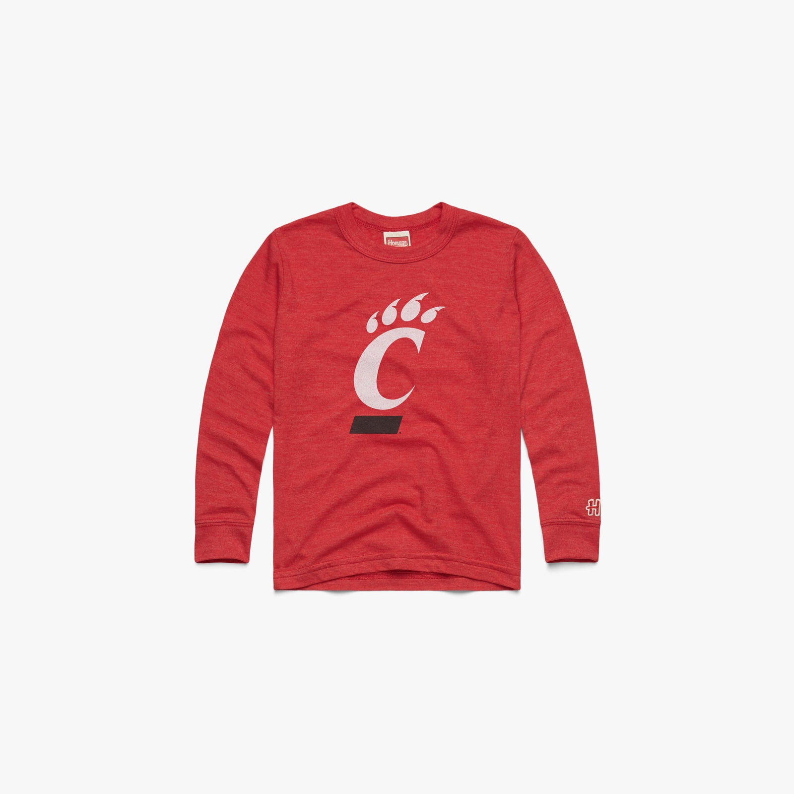 Youth Red And Black Long Sleeve Tee