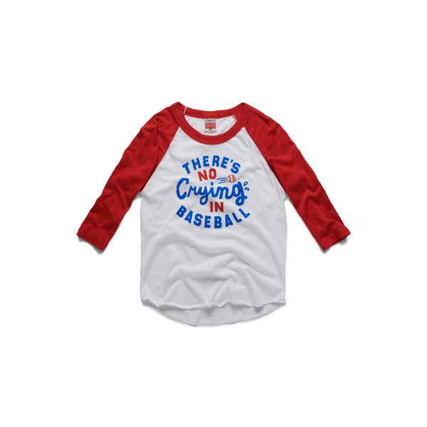 96b063be Youth There's No Crying In Baseball Raglan – HOMAGE