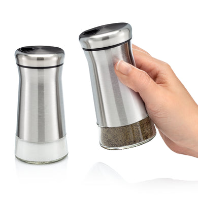 Home EC Salt and Pepper Shaker Set of 2 with Adjustable Pour Settings - Home EC