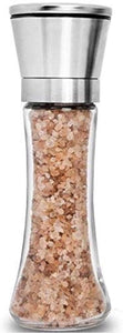 Home EC Single Salt and Pepper Grinder - Tall Salt and Pepper Grinder Set- Home EC
