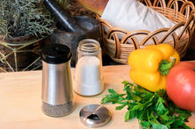 Load image into Gallery viewer, Home EC Salt and Pepper Shaker Set of 2 with Adjustable Pour Settings Salt and Pepper Grinder Set- Home EC