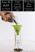 Load image into Gallery viewer, Home EC Salt and Pepper Grinder Set 2pk-Tall Salt and Pepper Grinder Set- Home EC