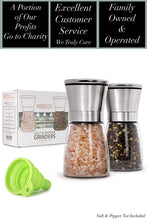 Load image into Gallery viewer, Home EC Salt and Pepper Grinder Set 2pk- Short - Home EC