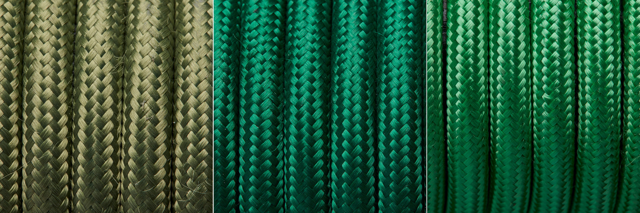 Green fabric flex cables from Industville
