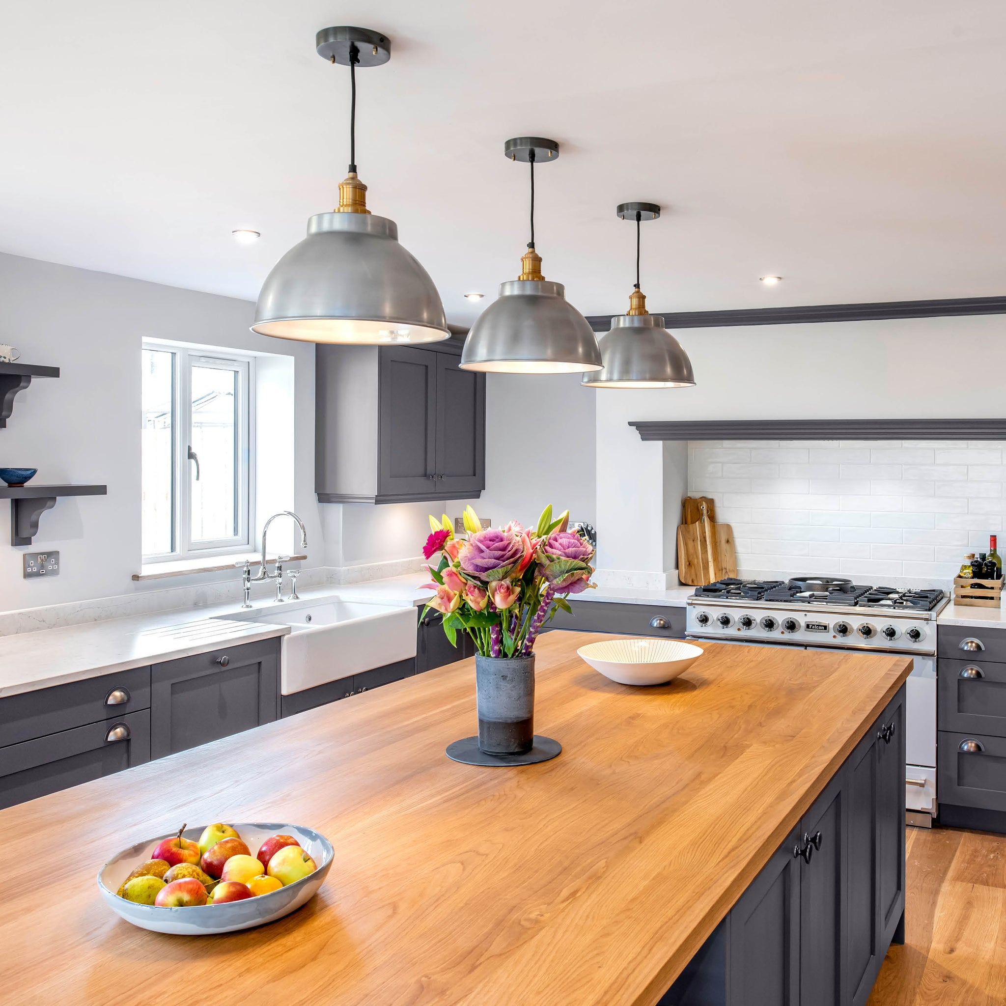 Grey kitchen interior design