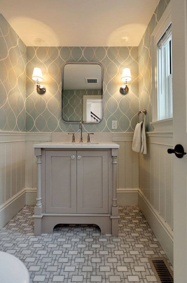 50 Small Bathroom Ideas That Increase Space Perception | Industville