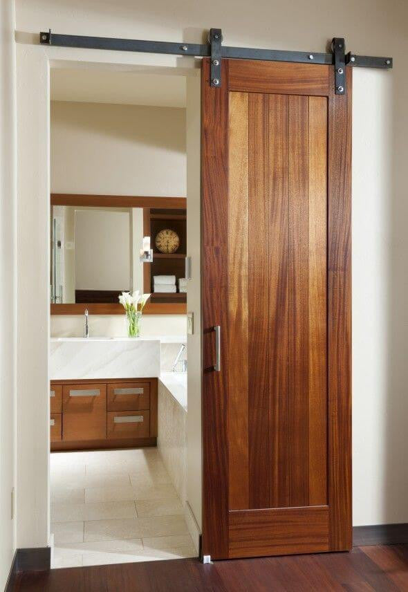 small bathroom door ideas
