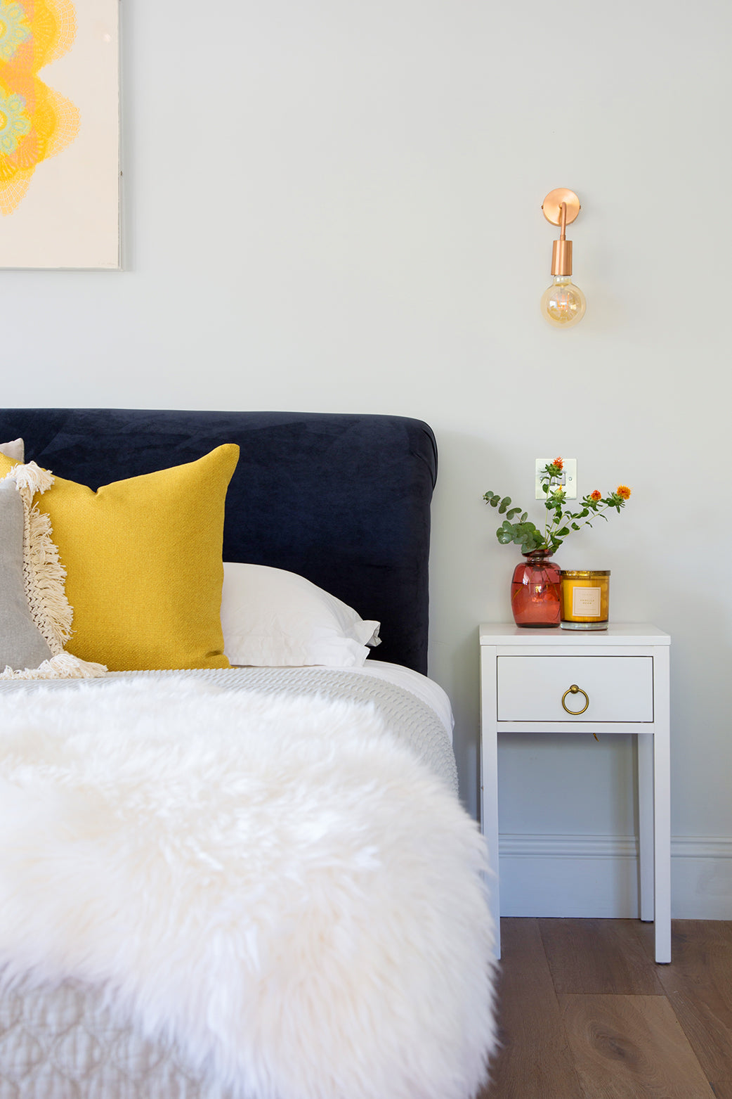 Hygge inspired bedroom interior