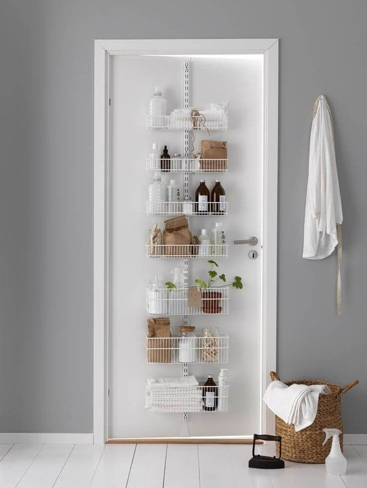 bathroom door storage ideas