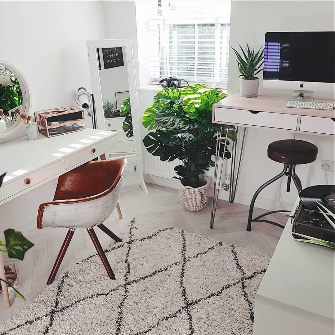 Modern office with chic stool