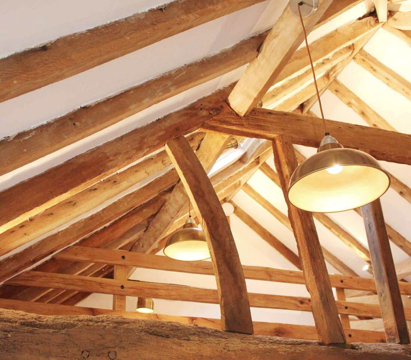 Wooden beams for attic interiors