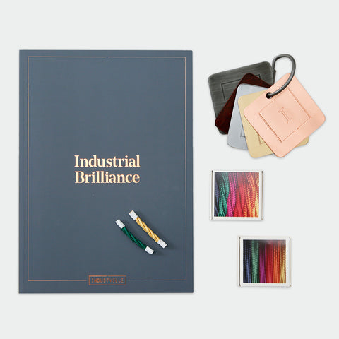 The Industville catalogue with metal and wiring samples