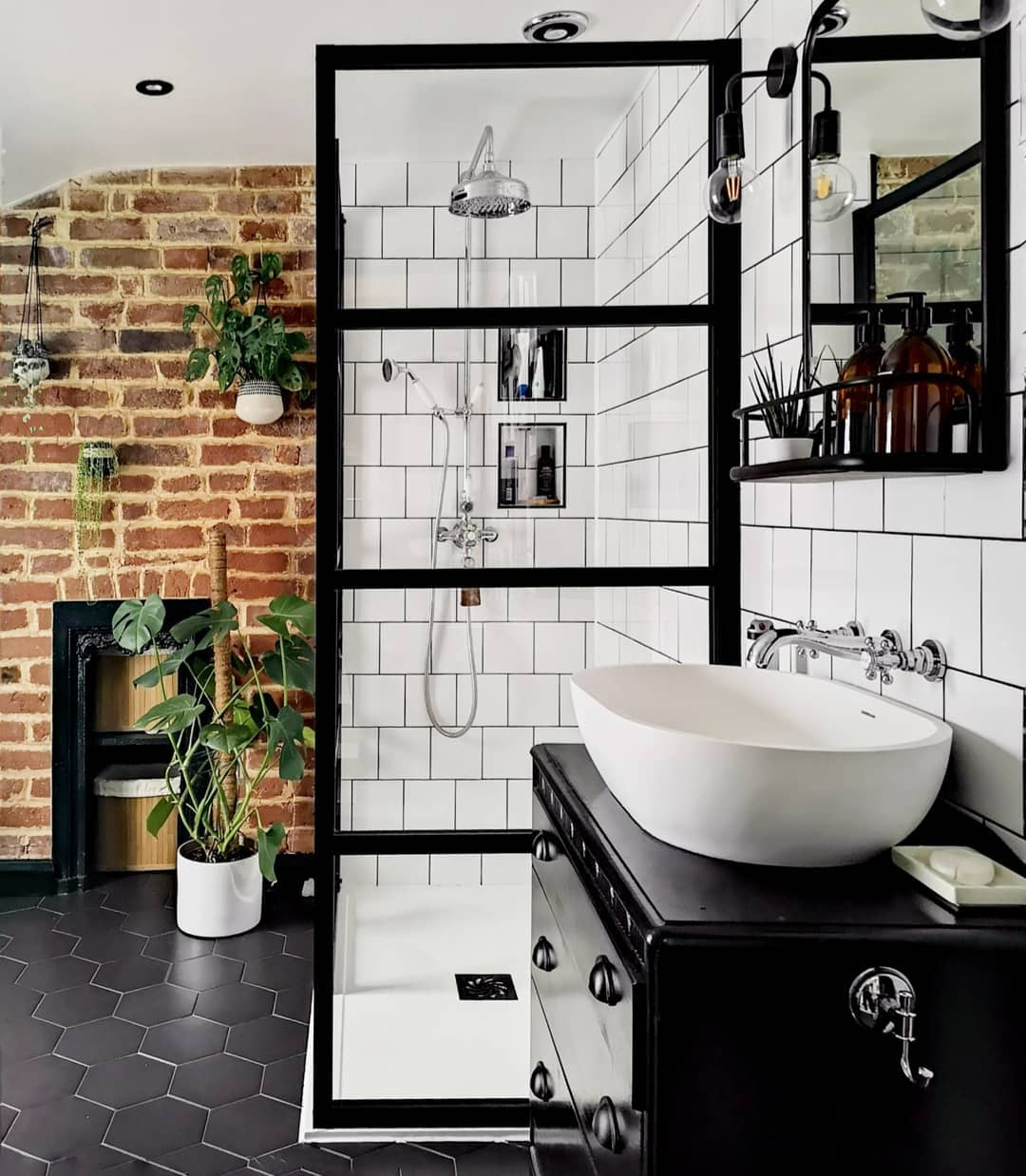 Bathroom with white tiles