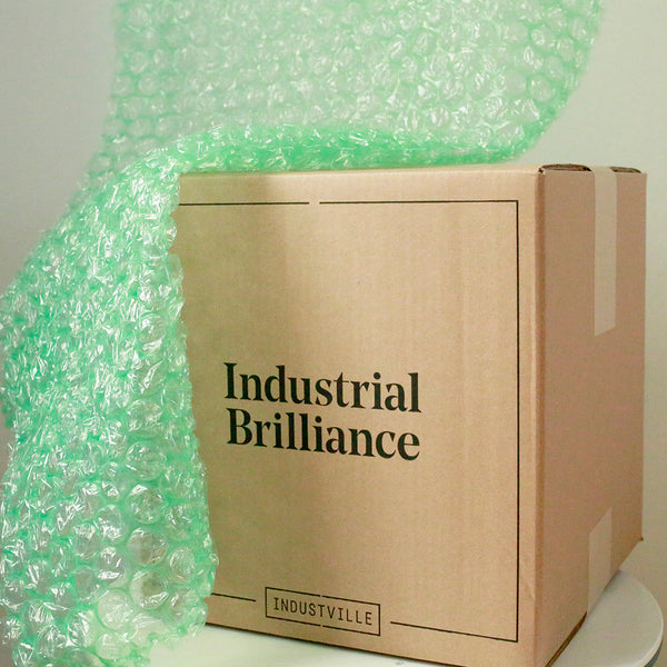 Industville eco-friendly cardboard and bubble wrap packaging