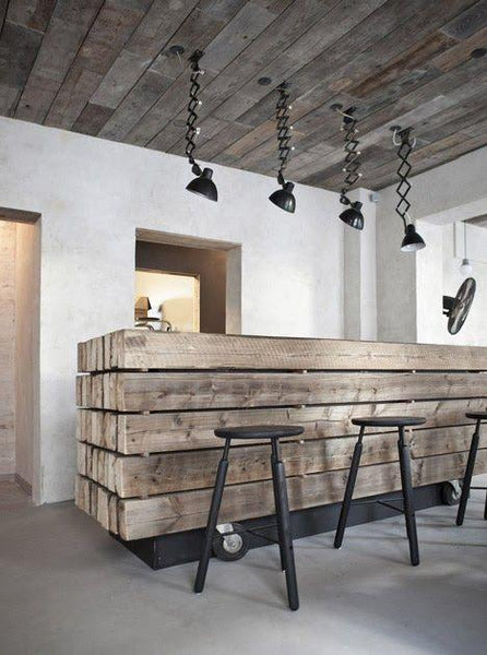 industrial home bar design