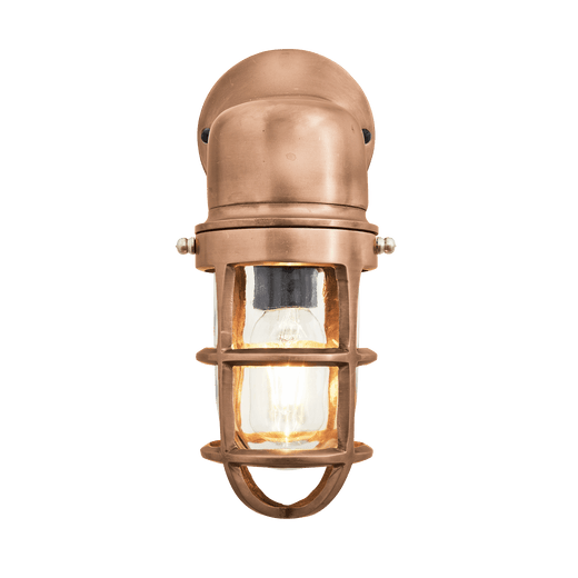 Bulkhead Outdoor & Bathroom Sconce Wall Light - 12 Inch - Copper