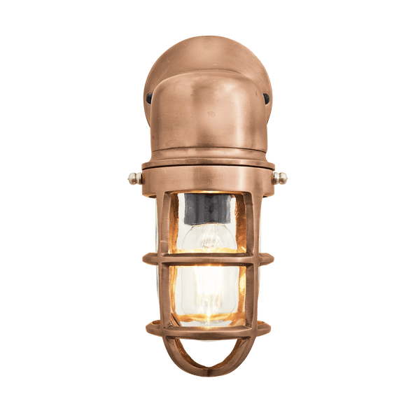 Bulkhead Sconce Wall Light - 12 Inch - Copper