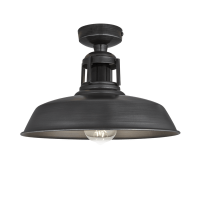 Barn Slotted Flush Mount - 12 Inch - Pewter