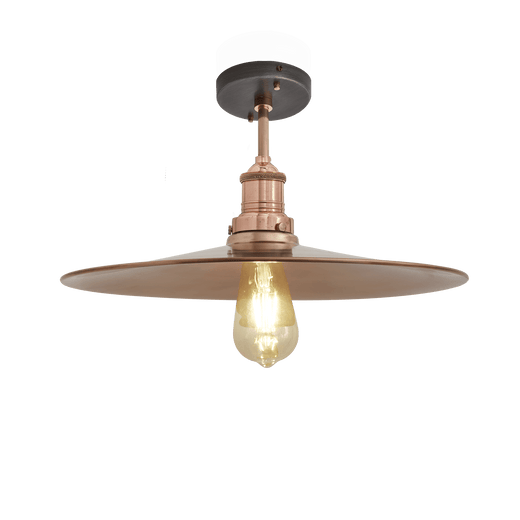 Brooklyn Flat Flush Mount - 15 Inch - Copper