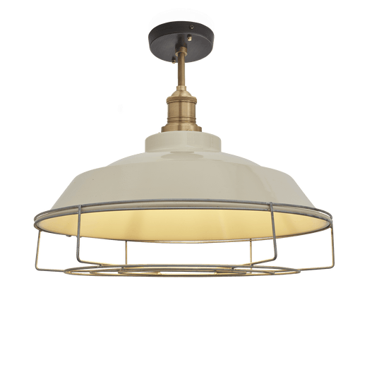 Brooklyn Vintage Step Metal Flush Mount Light - Cream - 16 inch