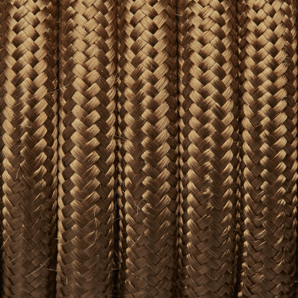 Bronze Round Fabric Flex Braided Cloth Cable Lighting