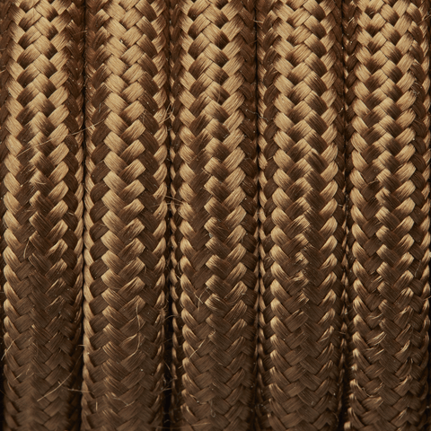 Bronze Round Fabric Flex - Braided Cloth Cable Lighting Wire