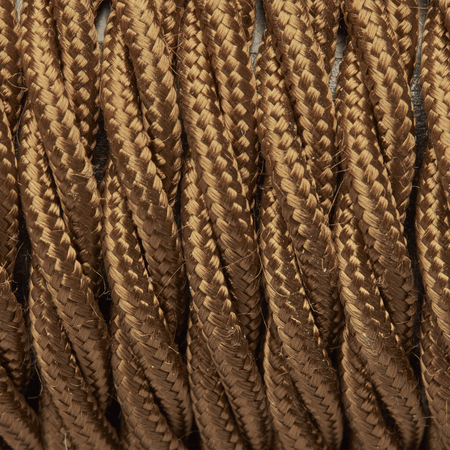 Bronze Twisted Fabric Flex - Braided Cloth Cable Lighting Wire