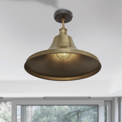Brooklyn Vintage Giant Bell Metal Flush Mount Light - Brass - 20 inch