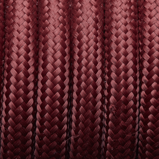 Burgundy Round Fabric Flex - 3 Core Braided Cloth Cable Lighting Wire