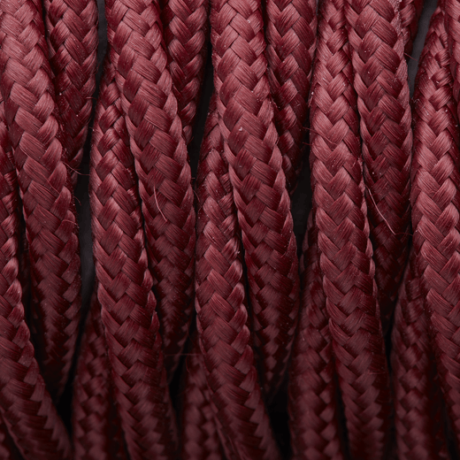 Burgundy Twisted Fabric Flex - 3 Core Braided Cloth Cable Lighting Wire
