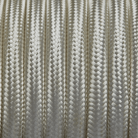 Cream Round Fabric Flex - 3 Core Braided Cloth Cable Lighting Wire