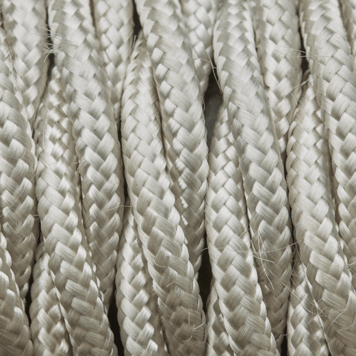 Cream Twisted Fabric Flex - 3 Core Braided Cloth Cable Lighting Wire