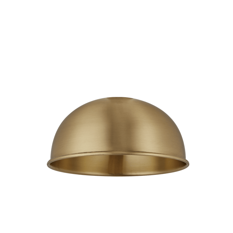 Brooklyn Dome Flush Mount - 8 Inch - Brass