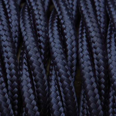 Dark Blue Twisted Fabric Flex - Braided Cloth Cable Lighting Wire