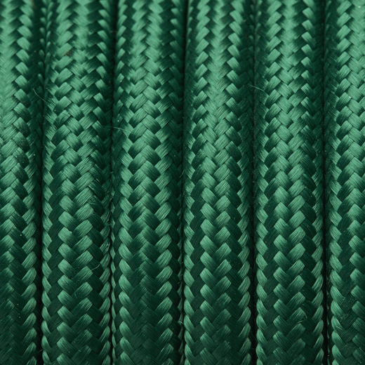 Dark Green Round Fabric Flex - 3 Core Braided Cloth Cable Lighting Wire
