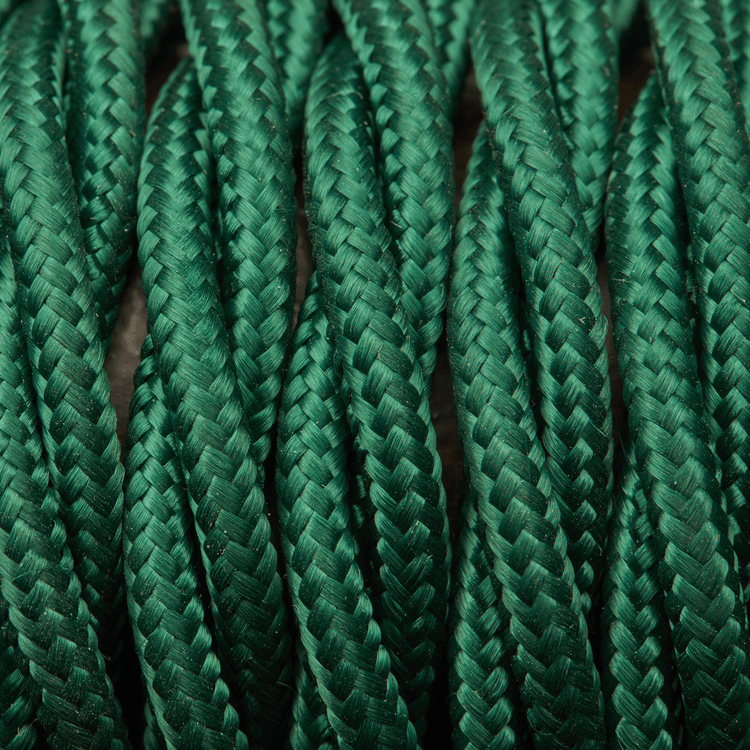 Dark Green Twisted Fabric Flex - Braided Cloth Cable Lighting Wire