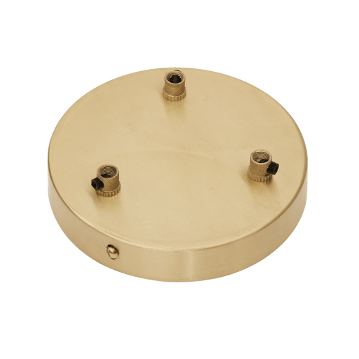 Sleek Ceiling Rose - 3 Outlet - Brass