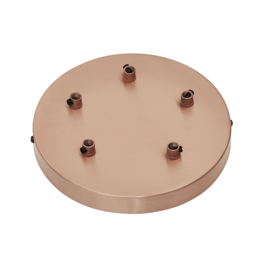 Sleek Ceiling Rose - 5 Outlet - Copper