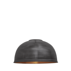 Brooklyn Giant Dome Pendant - 23.5 Inch - Pewter & Copper